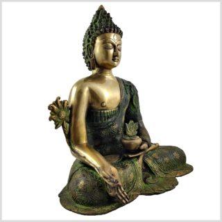 Medizinbuddha 9,6 grünantik Seitenansicht Rechts