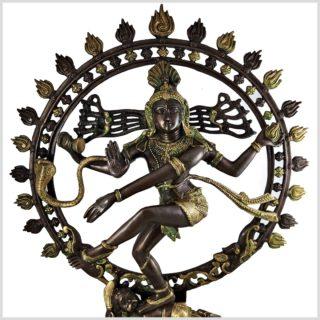 Nataraja Shiva 86cm Messing verkupfert Oben