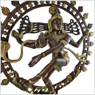 Nataraja Shiva 86cm Messing verkupfert Seite Rechts