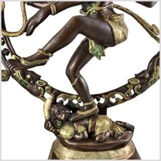 Nataraja Shiva 86cm Messing verkupfert Fuß