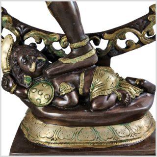 Nataraja Shiva 86cm Messing verkupfert Nahansicht Fuß