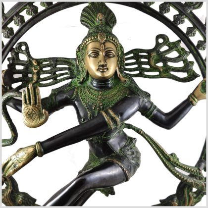 Shiva Nataraja Schwarzgrün Gesicht
