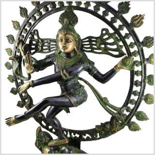 Shiva Nataraja Schwarzgrün Seitenansicht Links