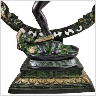 Shiva Nataraja Schwarzgrün Fuß