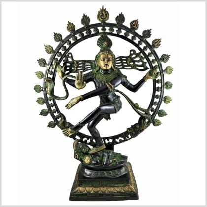 Shiva Nataraja Schwarzgrün Vorderansicht