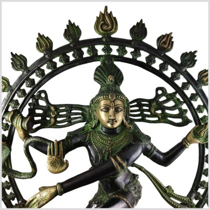 Shiva Nataraja Schwarzgrün Nahansicht