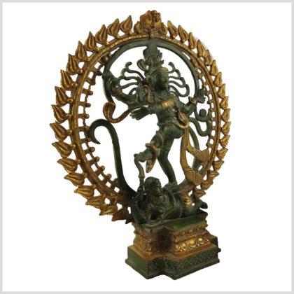Tanzender Shiva 6.6KG Mintgrün Seite Rechts