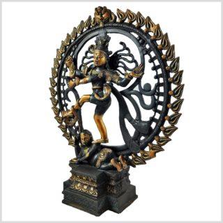 Tanzender Shiva 6,6kg Schwarzgold Seite Links
