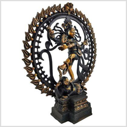 Tanzender Shiva 6,6kg Schwarzgold Seite Rechts
