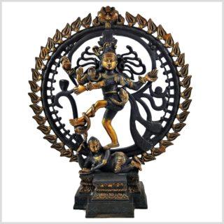 Tanzender Shiva 6,6kg Schwarzgold Vorne