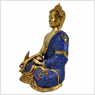 Medizinbuddha blau Seitenansicht