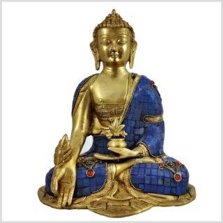 Medizinbuddha blau Vorderansicht