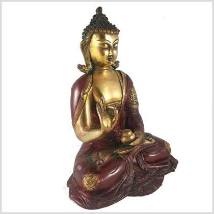 Lehrender Buddha rotgold Rechts