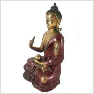 Lehrender Buddha rotgold Seitenansicht Links