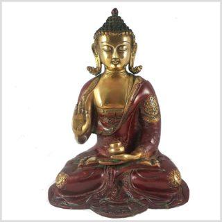 Lehrender Buddha rotgold Vorderansicht