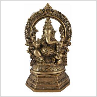 Ganesha auf Podest Vorderansicht