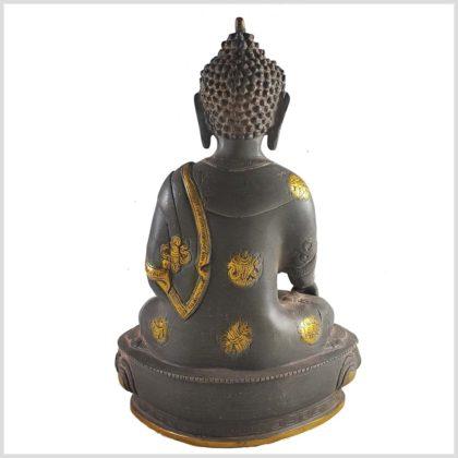 Erdender Buddha grauantik Hinten
