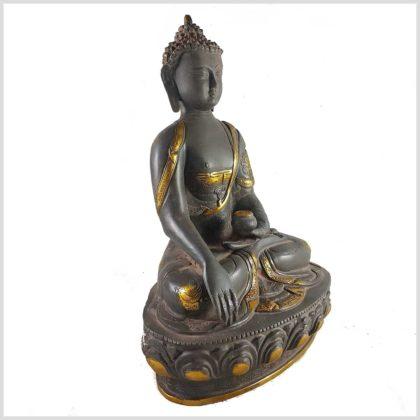 Erdender Buddha grauantik Seite Rechts