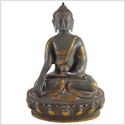 Erdender Buddha grauantik Vorderansicht
