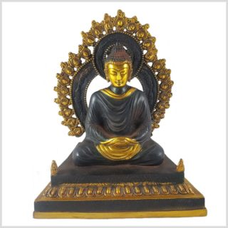 Erleuchteter Buddha auf Podest Vorderansicht