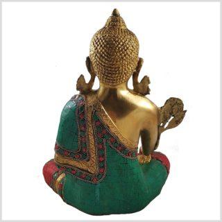 Medizinbuddha mit Steinen 5kg Seitenansicht Hinten