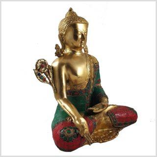 Medizinbuddha mit Steinen 5kg Seitenansicht Links