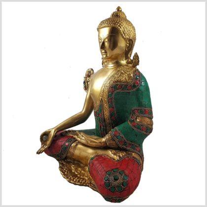 Medizinbuddha mit Steinen 5kg Seitenansicht Rechts