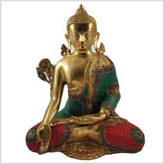 Medizinbuddha mit Steinen 5kg Vorderansicht