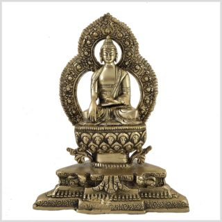 Erdender Buddha Tempelbuddha Vorderansicht