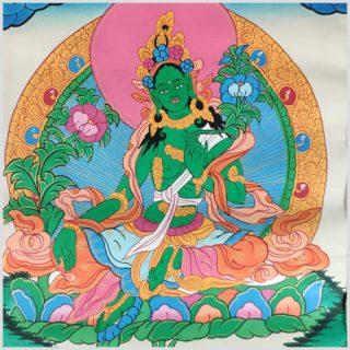 Thangka Grüne Tara Nahansicht