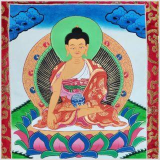 Erdender Buddha Thangka Nahansicht