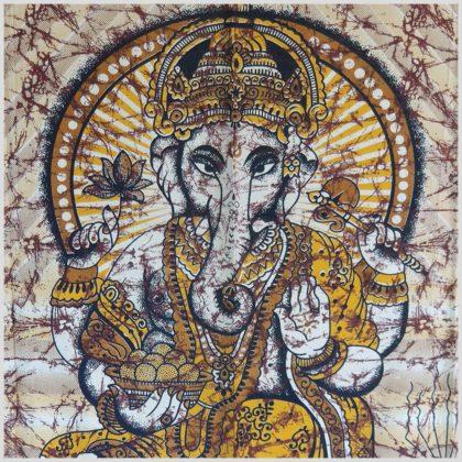 Ganesha Wandtuch Wandbehang Gelb-Orange 200cm*135cm 1