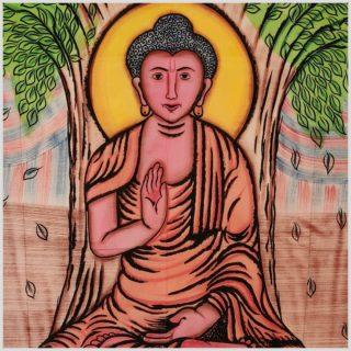 Wandtuch Buddha Nahansicht
