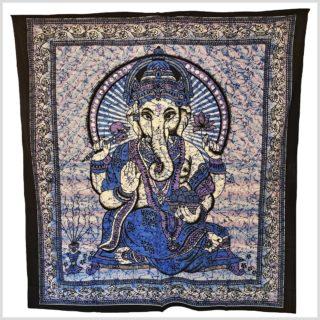 Ganesha Wandtuch Ganesha blau 230cmx200