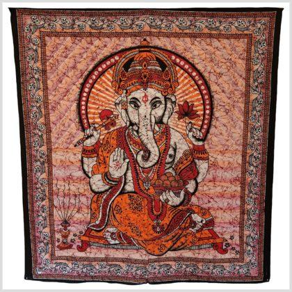 Ganesha Wandtuch Wandbehang Groß Rot
