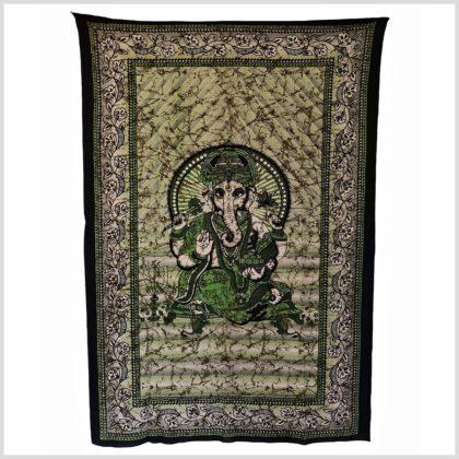 Ganesha Wandtuch grün