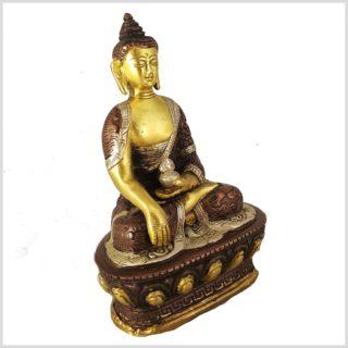 Erdender Buddha Bhumiparsa Mudra Dragonbuddha Tricolor Seitenansicht Rechts