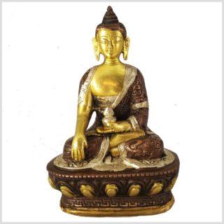 Erdender Buddha Bhumiparsa Mudra Dragonbuddha Tricolor Vorderansicht