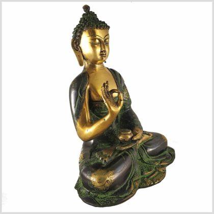Lehrender Buddha Asthamangala 2,8kg Seitenansicht Rechts