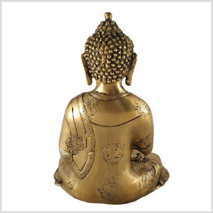 Vitarka Mudra Buddha Asthamangala 2,8kg Messing Rückansicht
