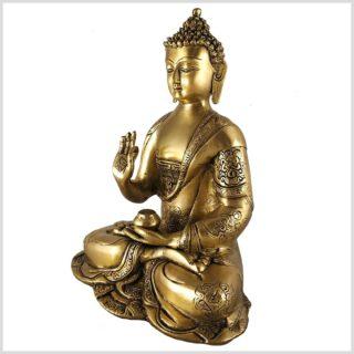 Vitarka Mudra Buddha Asthamangala 2,8kg Messing Seite Links