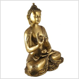 Vitarka Mudra Buddha Asthamangala 2,8kg Messing Seite Rechts