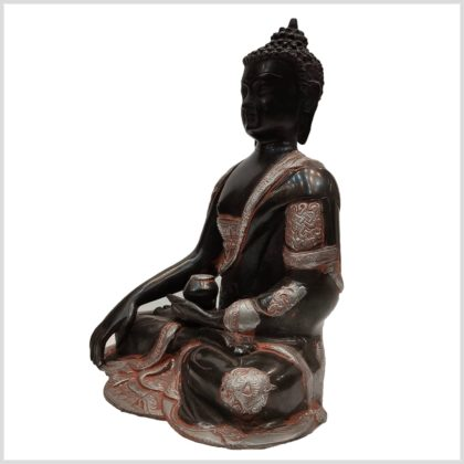Erdender Buddha Asthamangala Seitenansicht Links