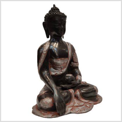 Erdender Buddha Asthamangala Seitenansicht Rechts