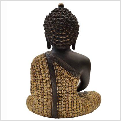 Erleuchteter Buddha mit Metallarbeiten Hinten