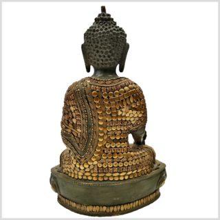 Medizinbuddha mit Steinen 33cm Rückansicht