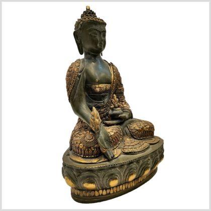 Medizinbuddha mit Steinen 33cm Seitenansicht Rechts