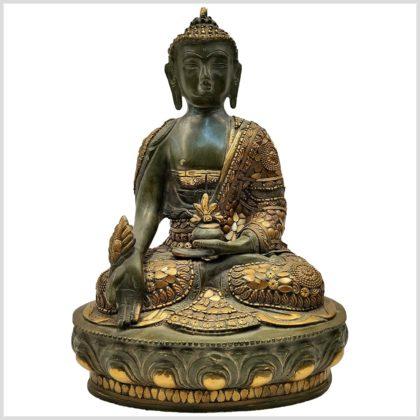 Medizinbuddha mit Steinen 33cm Vorderansicht