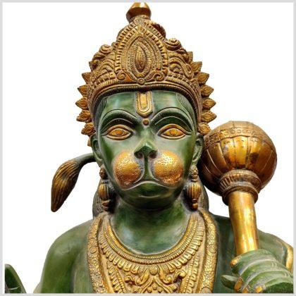 Hanuman stehend Messing Gesicht