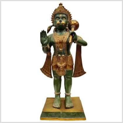 Hanuman stehend Messing Vorderansicht